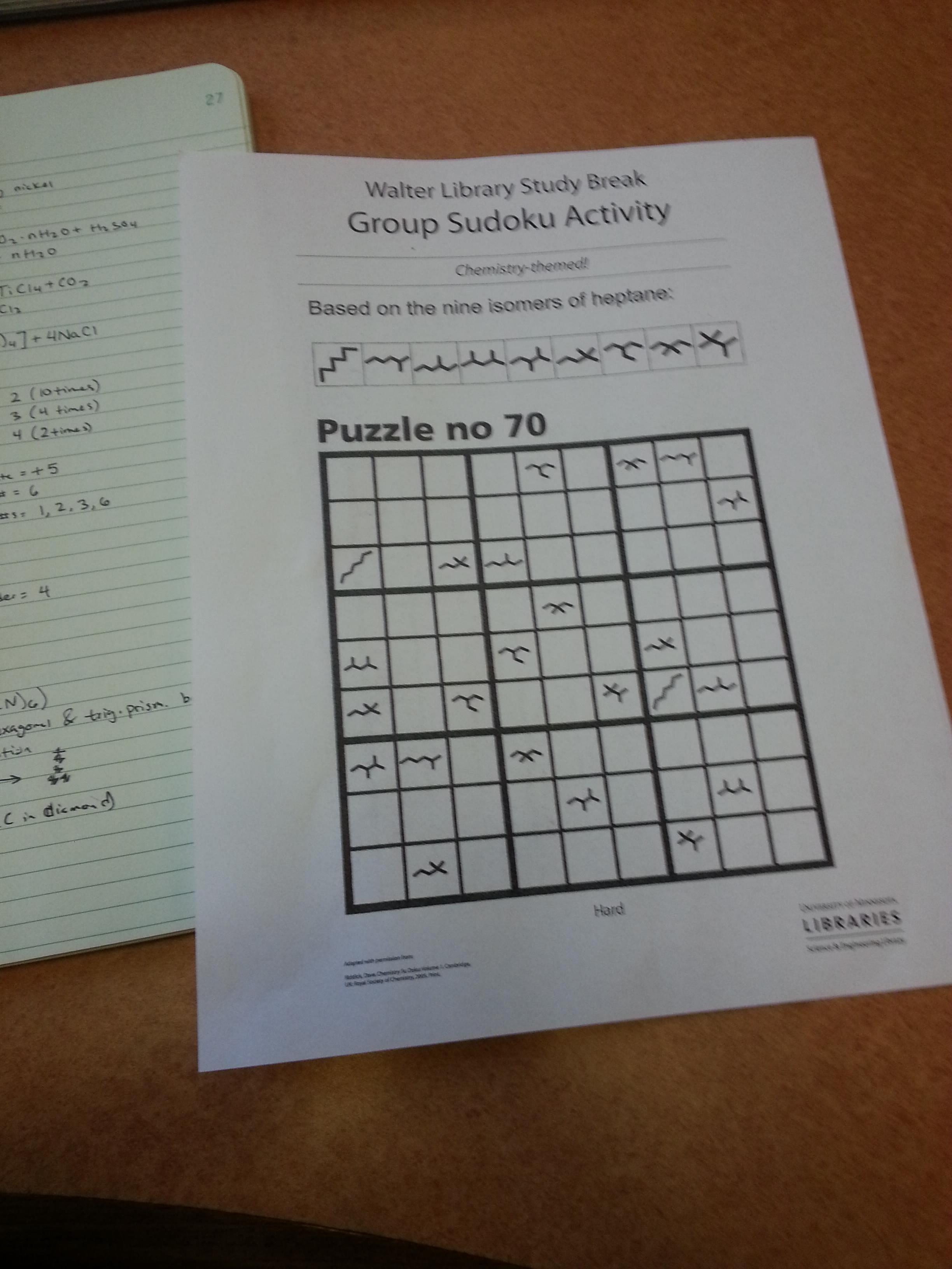 organic-chemistry-sudoku